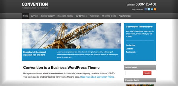 Meilleur theme WordPress - Convention