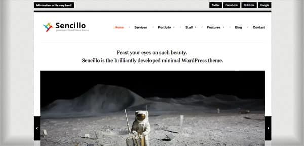 Meilleur theme WordPress - Sencillo