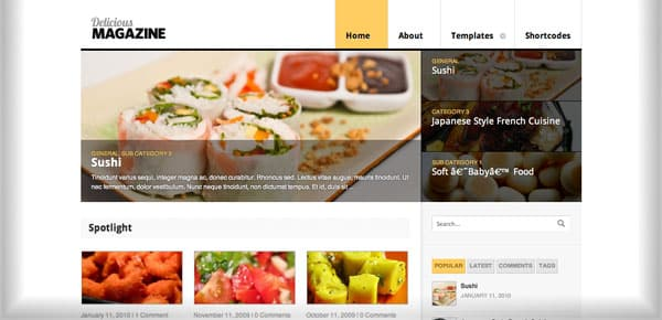 Theme WooThemes - Delicious