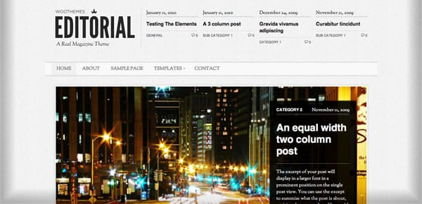 Theme WooThemes - Editorial