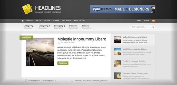 Theme WooThemes - Headlines