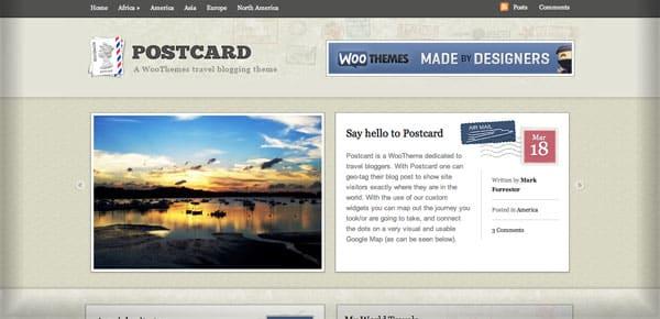 Theme WooThemes - Postcard