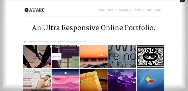 Theme WordPress Minimaliste - Aware