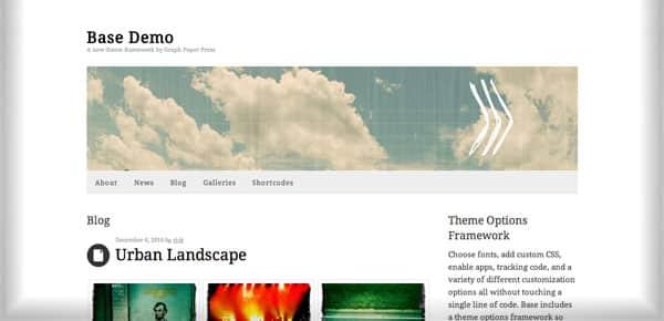Theme WordPress Minimaliste - Base