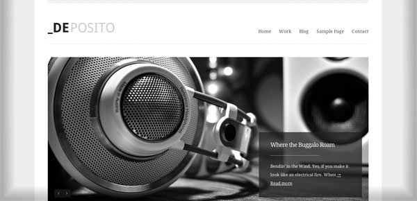 Theme WordPress Minimaliste - dePosito