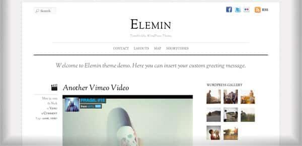 Theme WordPress Minimaliste - Elemin