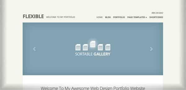 Theme WordPress Minimaliste - Flexible