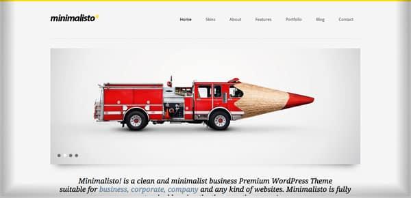 Theme WordPress Minimaliste - Minimalisto