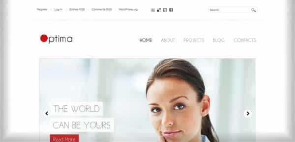 Theme WordPress Minimaliste - Optima
