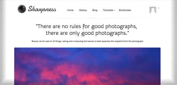 Theme WordPress Minimaliste - Sharpness