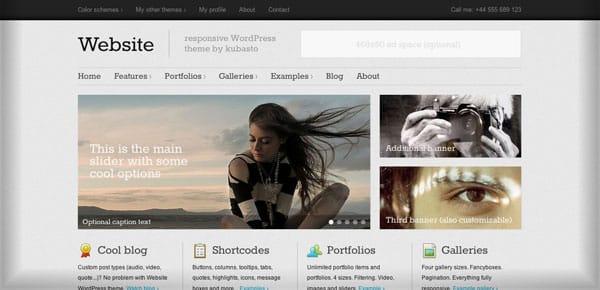 Theme WordPress Minimaliste - Website