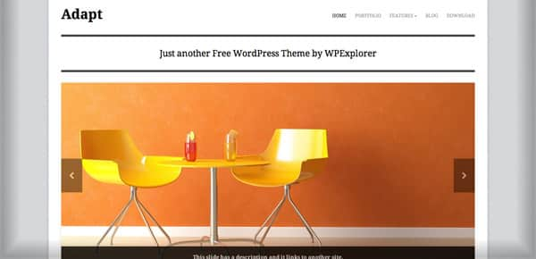 Theme WordPress Gratuit - Adapt