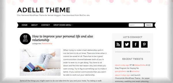 Theme WordPress Gratuit - Adelle