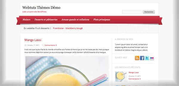 Theme WordPress Gratuit - Delicacy