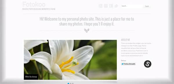Theme WordPress Gratuit - Fotokoo