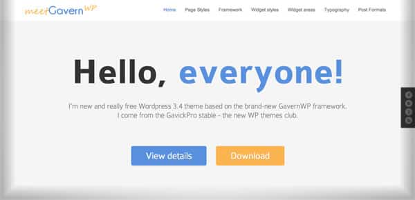 Theme WordPress Gratuit - Meet Gavern WP