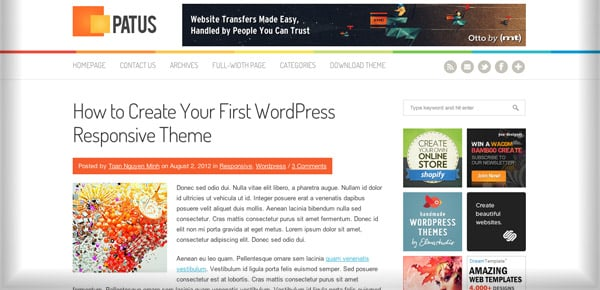 Theme WordPress Gratuit - Patus