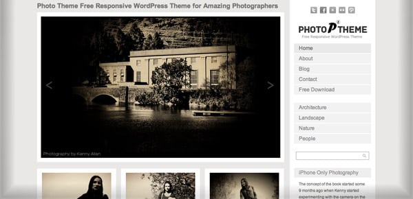 Theme WordPress Gratuit - Photo Theme