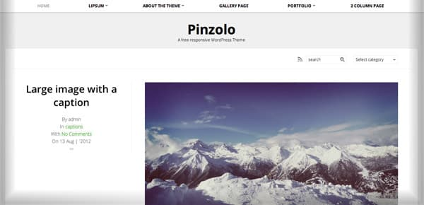 Theme WordPress Gratuit - Pinzolo