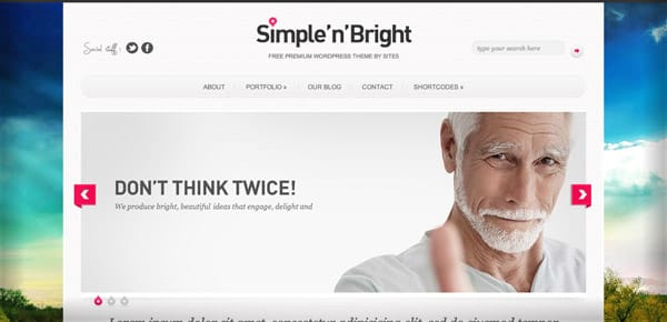Theme WordPress Gratuit - Simple'N'Bright