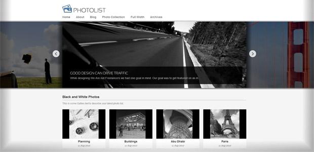 Theme WordPress - Photolist