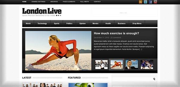 LondonLive, le thème WordPress utilisé sur Webmarketing-Com