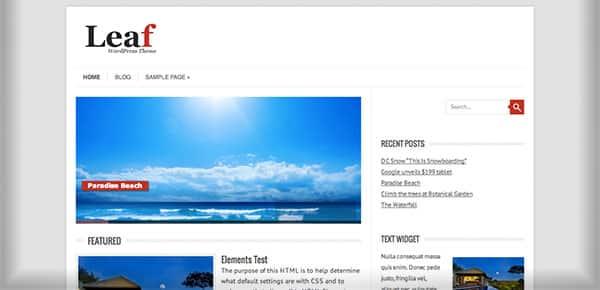 Template WordPress Gratuit - Leaf