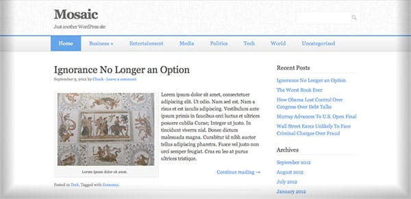 Template WordPress Gratuit - Mosaic