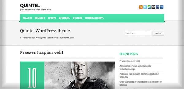Template WordPress Gratuit - Quintel