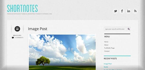 Template WordPress Gratuit - ShortNotes