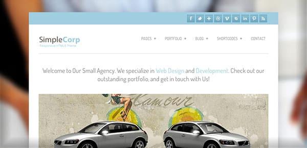 Template WordPress Gratuit - SimpleCorp