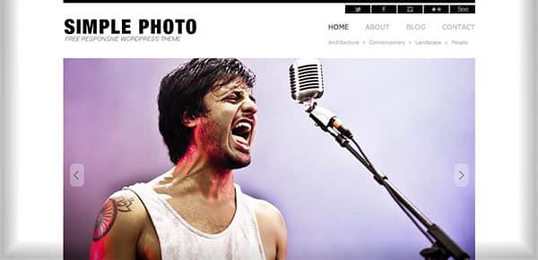 Template WordPress Gratuit - SimplePhoto