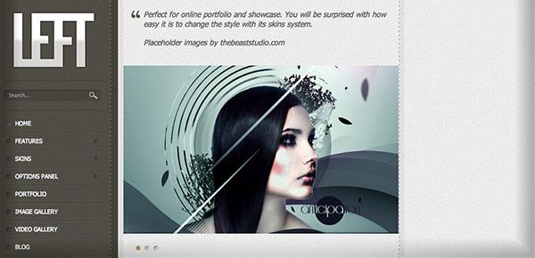 Template WordPress Gratuit - Left