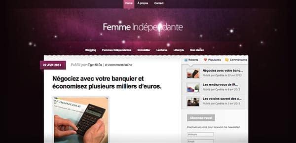 Theme WordPress - Femme Independante