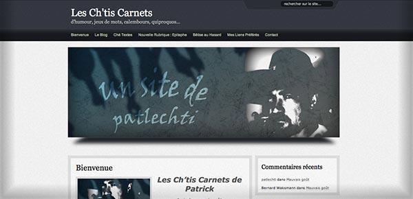 Theme WordPress - Les Chtis Carnets
