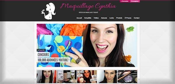 Theme WordPress - Maquillage Cynthia