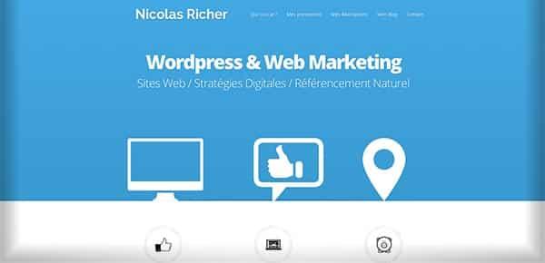 Theme WordPress - Nicolas Richer