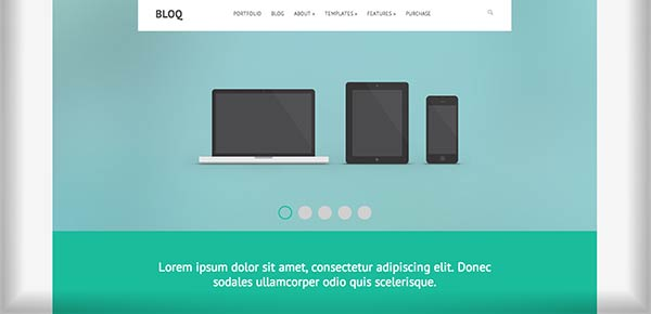 Template WordPress - Bloq