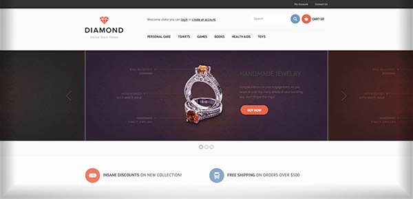 Template WordPress - Diamond