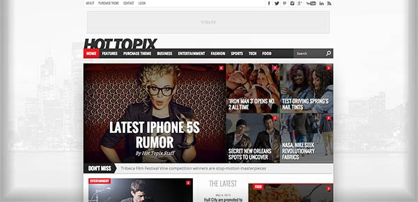 Template WordPress - HotToPix