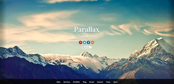 Template WordPress - Parallax