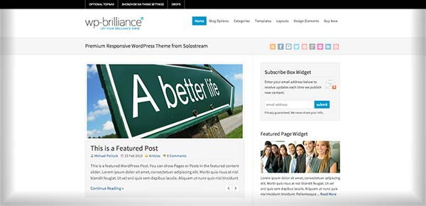 Template WordPress - WPBrilliance