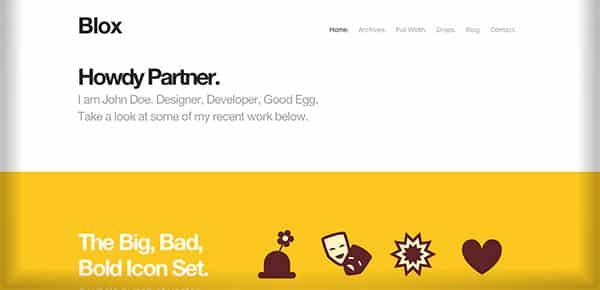 Template WordPress - Blox