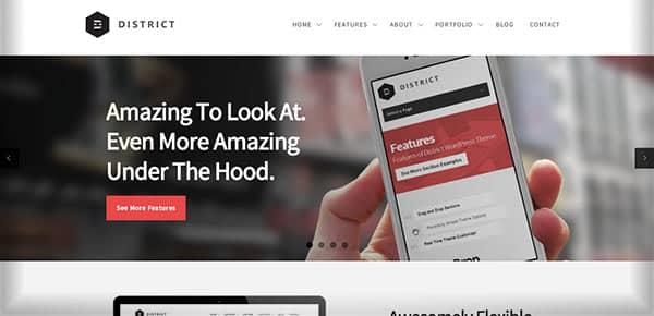 Template WordPress - District