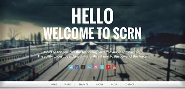 Template WordPress - Scrn