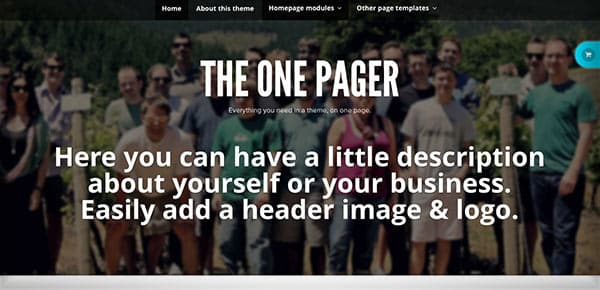 Template WordPress - TheOnePager