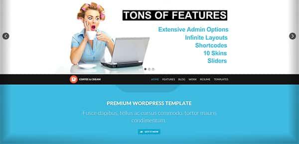 Template WordPress - Coffee Cream