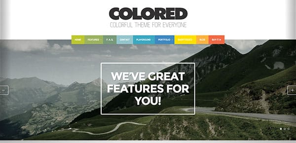 Template WordPress - Colored