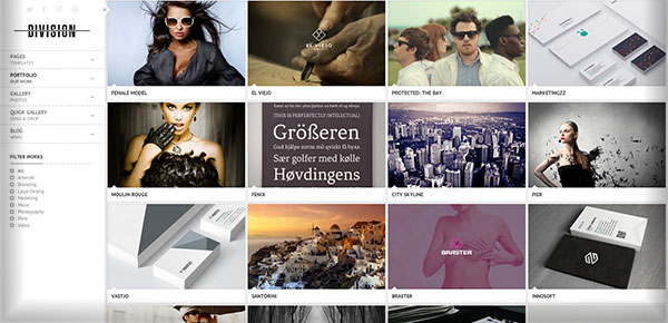 Template WordPress - Division