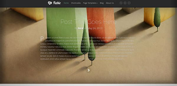 Template WordPress - Fable